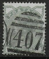 DOUGLAS, I.O.M. Cancel On 1/2d. Pale Green. V.Fine Numeral 407 Postmark. Ref:049