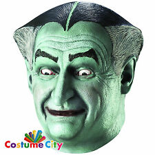 Adults Grandpa Munster Vampire Dracula Mask Halloween Fancy Dress Accessory