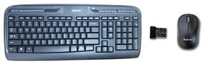 Logitech MK320 Wireless PC Keyboard & M185 Mini Optical Mouse Combo USB Receiver