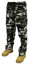 "Adults Mens Camo Plain Army Cargo Combat Trousers 28"" - 56"" Short Regular Long"