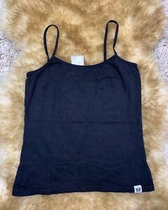 Skin to skin black cotton Camisole Top sleepwear nightwear size M  40/42