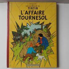BD Tintin L'affaire Tournesol EO Belge 1956 Hergé B++