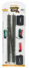 Bachmann 44875 EZ-Track #6 Single Crossover Turnout Left w/ Silver Rails N Scale