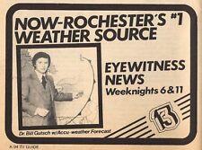 1980 WOKR TV NEWS AD~~BILL GUTSCH ACCU WEATHER FORECAST~ROCHESTER,NY