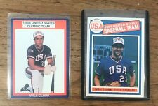 1984 Olympic Baseball Card Lot (2) - Will Clark