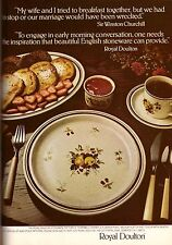 1981 Royal Doulton China Dishes Sir Winston Churchill  Print Ad Vintage VTG 80s
