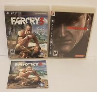Lot Of 2 FarCry 3 &  metal gear solid 4 Sony PlayStation 3 PS3 Bundle