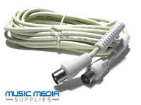 4m Coaxial Plug to Coaxial Plug TV Video Lead Links Set top box Video Wall plug