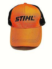 Stihl Chainsaws Orange And Black Baseball Cap NWT Adjustable Mens
