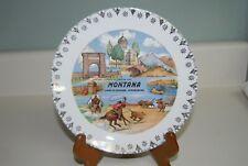 Vtg MONTANA Souvenir Plate Land of Shining Mountains Yellowstone Glacier Park