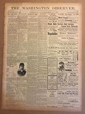 The Washington Observer (Washington Pa) three 1901 issues. Vowell's Ice Cream.