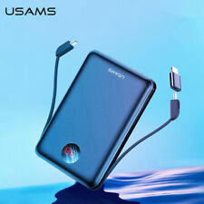 USAMS Mini Power Bank LED Display External Battery Charging with USB Cable