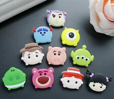 50 Pcs Cartoon Toy story mixed Soft Jewelry Making Phone Case DIY Deco Flatbacks