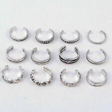 Toe Ring 12 Pcs Silver