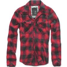 Camisas casuales de hombre rojos negros