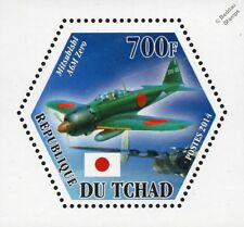 WWII IJN Mitsubishi A6M ZERO Fighter Aircraft Stamp