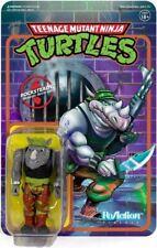 """Super7 Rocksteady TMNT Teenage Mutant Ninja Turtles Reaction 3.75"""" Figure"""