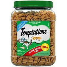 Temptations Mix Ups Crunchy and Soft Cat food Treats Seafood 30-Oz