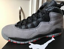 New Nike Air Jordan 10 X Retro Cool Grey Infrared Black GS Youth Size 6 6Y