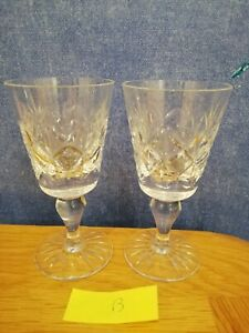 Edinburgh Crystal pair sherry/port glasses 11.5cm tall
