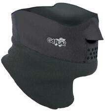 Gator Duo Face Protector Face Mask Cycling Ski Face Protector Black Medium