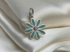 $260 Tiffany & Co. Sterling Silver 925 Blue Enamel Daisy Flower Charm