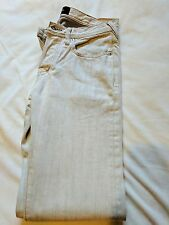 Paul Smith Mens Jeans Straight Leg In Ivory W28 L31
