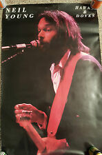 "NEIL YOUNG USA  POSTER  ""HAWKS & DOVES"""