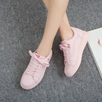 Women Casual Flat Lace Up Round Toe Sports Shoes Low Top Tennis Sneakers Running