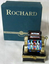 ROCHARD LIMOGES JACKPOT BOX HAND PAINTED FRANCE BNIB PORCELAIN HINGED F/S