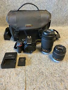 Nikon D5600 DSLR 24.2 MP Camera w/ AF-P DX NIKKOR 18-55mm & 70-300M Lenses