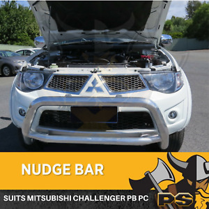"3"" Stainless Steel Nudge Bar to suit Mitsubishi Challenger PB PC Chrome"