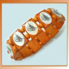 Islamische Bismillah Holz Armband Schmuck Osmanisch Armreif Armschmuck Orange