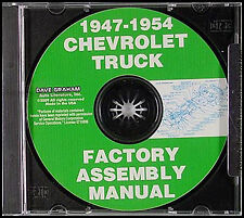 Chevrolet Truck Factory Assembly Manual Cd with Exploded Parts Views 1947-1954 (Fits: Truck)