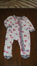 BOUTIQUE MAD SKY 9M 9 MONTHS BUTTERFLY ZEBRA TRIM OUTFIT