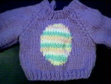 Customized Easter Egg Sweater Handmade for 15 inch Bitty Baby Doll Made in USA