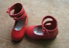 Jasmines Cottage Esther Leather doll shoe Red MSD 63mm fits Wiggs & Lasher