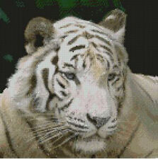 "White Tiger 2 Counted Cross Stitch Kit 10""x10"" FREE P&P"