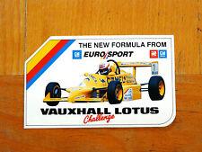 ORIGINALE Vauxhall LOTUS CHALLENGE Racing Motorsport Adesivo / Decalcomania