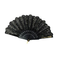 Spanish Style Lace Silk Folding Hand Held Flower Fan Dance Party Wedding #D8C
