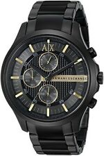 Armani Exchange Watch AX2164 Black Stainless Steel 46mm Case