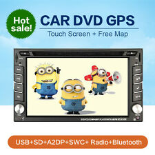 AUTORADIO MIT GPS NAVIGATION NAVI MP3 2 DIN BLUETOOTH TOUCHSCREEN DVD CD USB SD