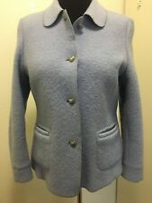 Blue Boiled Wool Jacket Woman's US Size 12 Euro Size 42
