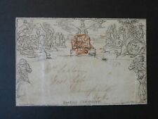 1840 June 4th Mulready 1d Envelope with Red Maltese Cross - Cat £550