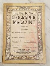 ANTIQUE NATIONAL GEOGRAPHIC - August 1919, Vol. 36, No. 2