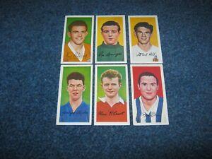 6 BARRATT FAMOUS FOOTBALLERS CARDS SERIES A 10.