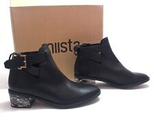 Miista Clarissa Black Womens Leather Ankle Boots Size 39
