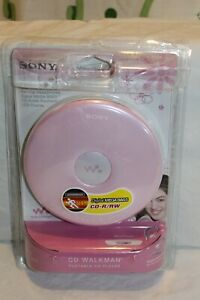 New Sony Walkman D-EJ010 Portable CD Player CD-R/RW Pink Digital Mega Bass