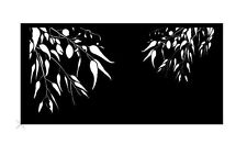 Decorative Garden Metal Screen 'GUM TREE' Laser Cut, 1200x2400, Corten Steel