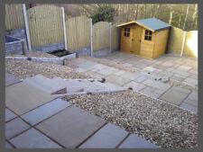 Hand-Cut Natural Stone Paving - Raj Blend Sandstone | Garden Patio Flags Slabs